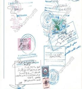 تصديق السفارة المصرية